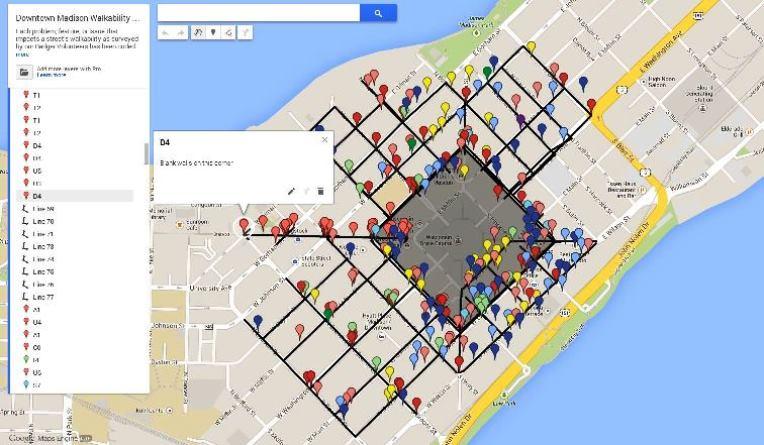 walkability survey analysis progress