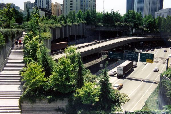 Seattle's Freeway Park.