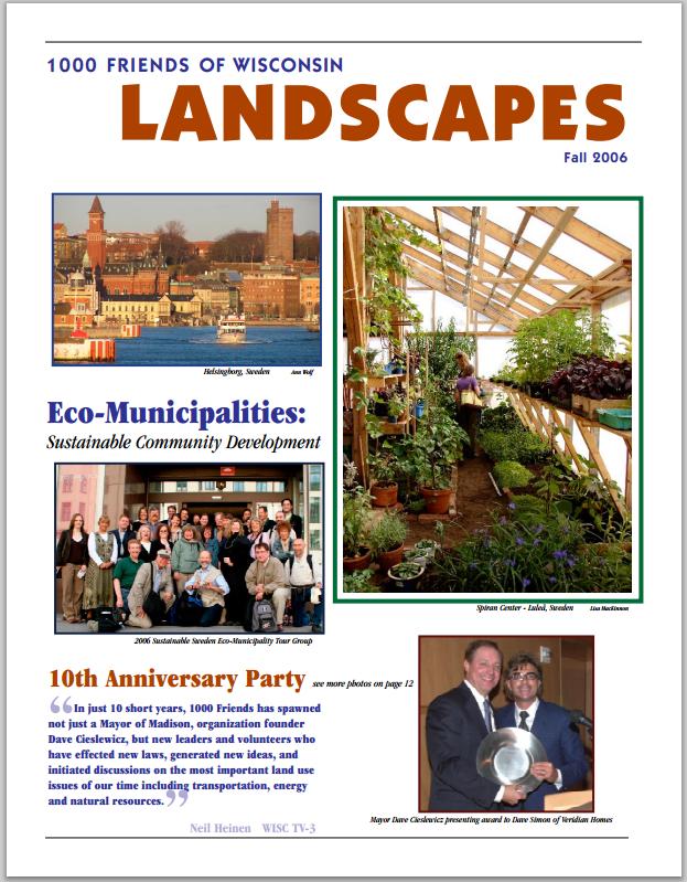 spring 2006 Eco Municipalities: Sustainable Community Development