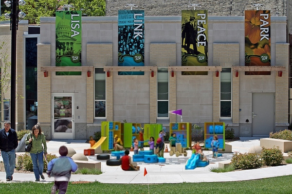 peace park with playground Placemaking in Wisconsin