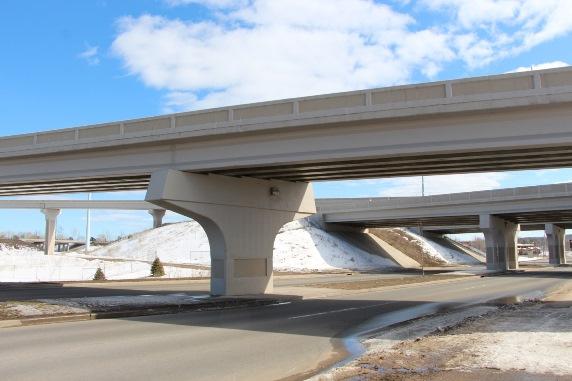Empty Highway 29 in Wausau, WI
