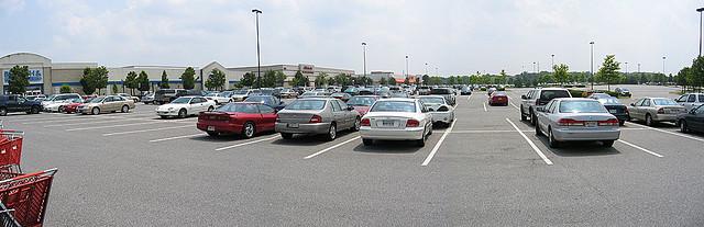 big box parking lot