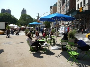 State Street Mall Great Placemaking Idea #2: Flexible shade and seating