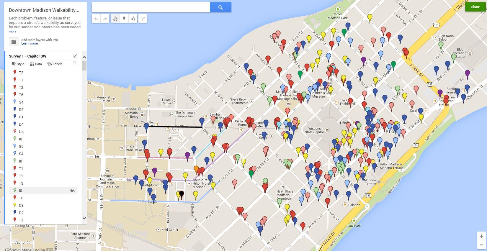 Badger Volunteers complete comprehensive walkability survey of