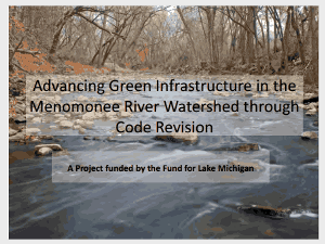 advancing green infrastructure in the Menomonee River Watershed
