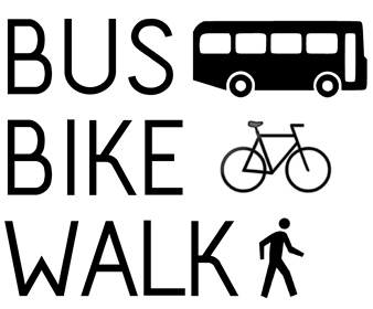 bus bike walk logo Transportation