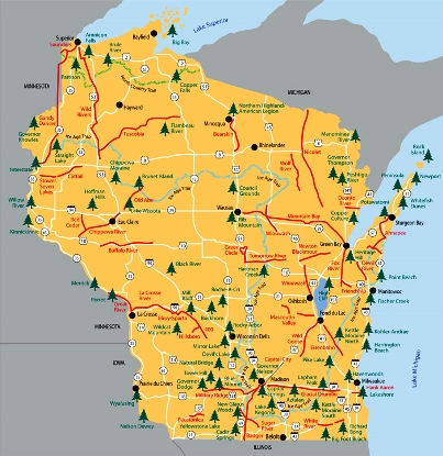 State of Wisconsin Parks.  Photo: WisDNR