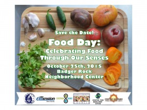 Food Day 2015: Celebrating Food Through Our Senses – Oct 25.