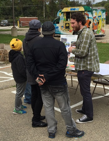 Community Project Coordinator, Abe Lenoch at the Leopold Fall Festival