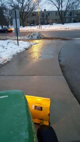 Icy conditions on Leopold's sidewalks