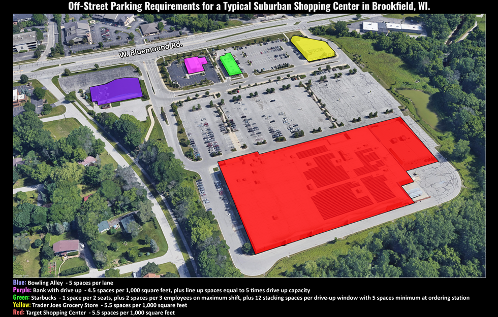 Off Street Parking Requirements Brookfield