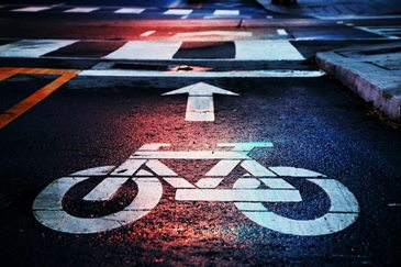 We ask the governor's task force on climate change to focus on improving biking infrastructure in Wisconsin communities - pictured is a dedicated bike lane