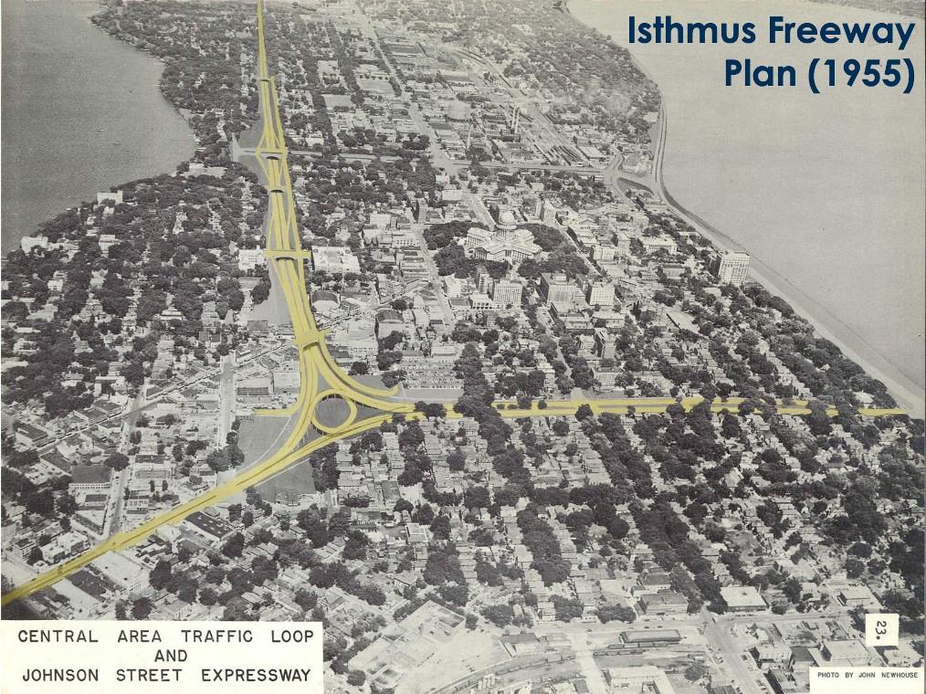 Isthmus Freeway Plan 1955
