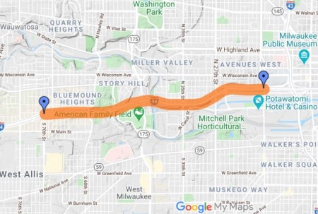 Map of I-94 expansion project