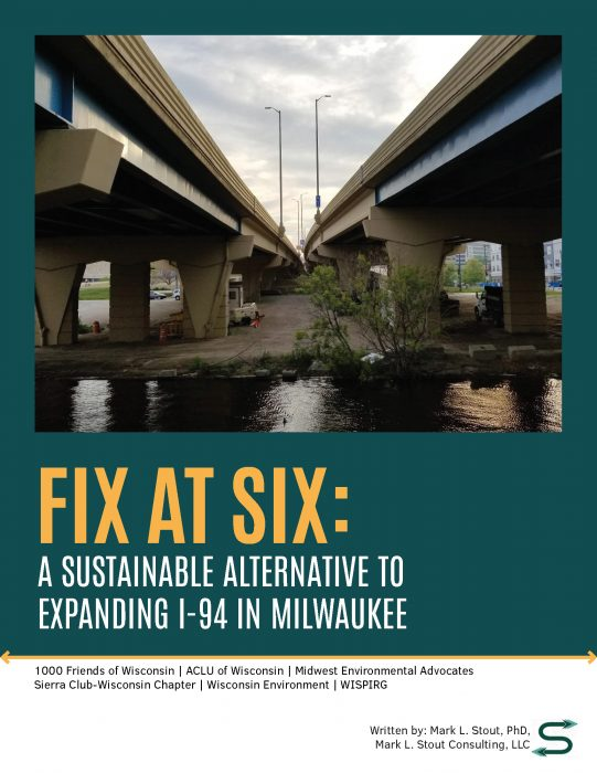 Fix at Six Cover, I-94 in downtown milwaukee taken underneath the overpasses showing a river and an inhospitable environment
